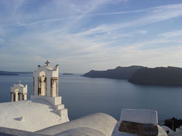 View of Therasia from Oia